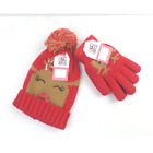 MUK LUKS Novelty Beanie and Gloves Set One Size Reindeer - NEW