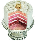 Pink Strawberry Cake Glass Ornament Radko Sur La Table Dessert Food Vanilla Bday