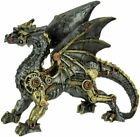 Steampunk Dragon Standing KFT 23 Mechanical Metallic Finish Figurine 8 L