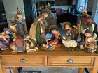 Shinoba Very Large 18 Nativity Set 10 pcs Hand Painted Ceramic RARE