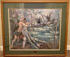 Jack Paluh Framed Print From Native American Hunter Series NWTF Numbered 56 900