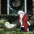 Kneeling Santa Outdoor Nativity Set