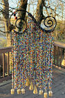 Infinity Spirals Multi Color Rainbow Glass Beads Bohemian Curtain Wind Chime