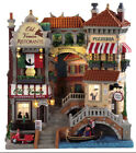 LEMAX-VENICE CANAL SHOPS-lighted Holiday Village Facade