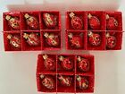 18 Szklo Decor 2 1 8H Hand Made  Decorated Christmas Tree Glass Ornaments