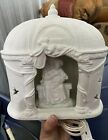 Beautiful White Ceramic Nativity Jesus And Mary Christmas Decoration Light Up
