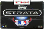2016 Topps Strata Baseball Hobby Box — Factory Sealed — 2 Hits per Box