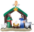 Christmas 7 Nativity Scene Airblown Inflatable Holidays Outdoor Indoor Dcor