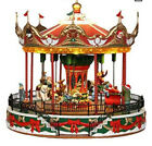 LEMAX -SANTA CAROUSEL -sights & sounds Animated Holiday Village