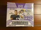 2020 Sage Hit Premier Draft High Series Hobby Box (16) Sixteen Autographs in Box