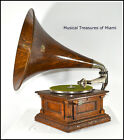 ANTIQUE VICTOR MS MONARCH SPECIAL ORIGINAL WOOD HORN PHONOGRAPH