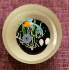 1983 Correia Art Glass Paperweight Limited Edition 75 100 Undersea Fish
