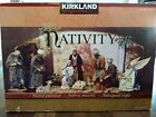Hand Painted Fabric Mache Costco Kirkland Signature Large Nativity Set 404603