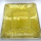 Citrus Yellow Recycled Glass Plate 105 Square Plate
