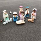 Vintage Empire Children Nativity Set Light up Blow Mold 10 pc discontinued