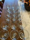 Bohemian Crystal Vintage Claudia Set of 18 Water Wine  Champagne glasses