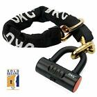 Bike Chain Locks Moped Motorcycle Anti Theft Lock With 12mm And U Shackle New