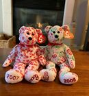 TY Original Beanie Babies Candy Canes & Gingerspice Holiday Bears (2007 & 2008)