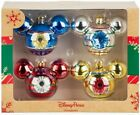 Disney Parks Mickey Mouse Icon Glass Ornament Set