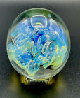 Striking 1999 Signed EICKHOLT Glass PAPERWEIGHT Iridescent CHANGING HUES 45 H