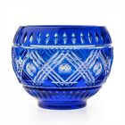 NEW Waterford Blue Cased Cobalt Bowl  25000 Retail Value