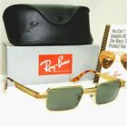 Authentic Ray Ban Bausch Lomb Vintage Square Sunglasses Undercurrent Gold W2827