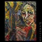 ORIGINAL OIL PAINTING LARGE EXPRESSIONIST ART POP FUNKY PORTRAIT FOLK ABSTRACT A