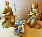 Kurt S Adler Christmas Nativity Set 3 Paper Mache Mary Joseph Baby Jesus Japan