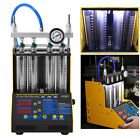 Car Motorcycle Fuel Injector Tester Cleaner Cleaning Machine 4 Cylin Ultrasonic