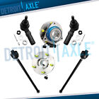 2 Front Wheel Hub Bearing Assembly w ABS FWD + 2 Inner and 2 Outer Tie Rod