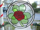 Stained Glass Irish Rose Sun catcher Real Glass