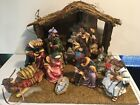 Grandeur Noel 10 Piece Nativity Set 2000 EUC Porcelain Figures In Original Box