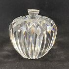 Waterford Crystal Apple Paperweight BRILLIANT CUT CRYSTAL APPLE  STEM 3 IN T