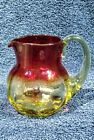 Beautiful Pairpoint antique art glass amberina 4 creamer pitcher
