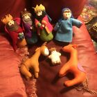 Colorful Felted Nativity Scene 7 Piece Set Soft Raz Imports Christmas Felt Plush