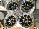 For 110x4 for rx3 mazda rx2 rx4 rx7 sa22 15 Retro banana style staggered wheels