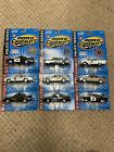 LOT OF 9 ROAD CHAMPS POLICE SERIES SQUAD CARS USA FORD CHEVROLET 1 43