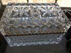 VINTAGE HEAVY FRENCH CRYSTAL JEWELRY CASKET BOX Circa 1930s BACCARAT