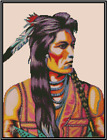 Native American Indian Worrier Counted Cross Stitch COMPLETE KIT  21 160