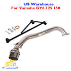 Slip on Motorcycle Exhaust System Connector Link Tube for Yamaha GY6 125cc 150cc