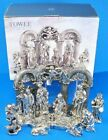 TOWLE SILVERSMITHS Large 13pc Silver finished Polyresin Christmas Nativity Scene