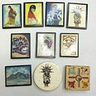Lot of 10 DeGrazia and Miscellaneous Native American Children Southwest Magnets