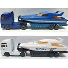 Majorette police boat truck trailer 1 100 tractor container diecast toy model