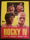 Rocky IV trading card box Topps 1985 VINTAGE