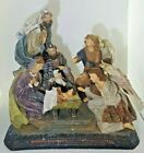 Mark Roberts Nativity Centerpiece HUGE 15 Tall Angels at the Nativity Glitter