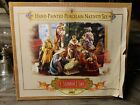Grandeur Noel 9 Piece Porcelain Nativity Set Collectors Edition 2002 EXCELLENT