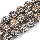 3 Strd Tibetan Style dZi Beads Natural Agate Round Beads Stone Loose Spacer 12mm
