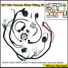 Electric Wiring Harness Wire Loom CDI Stator Kit for 150CC 200CC 250CC ATV Quad