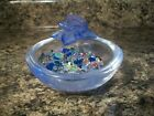 Daum Rose Passion Mini Coupelle Pate de Verre French Crystal with Prisms Crystal