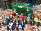 Blaze And The Monster Machines Swoops Helicopter + 13 Diecast Pilot Blaze LOT